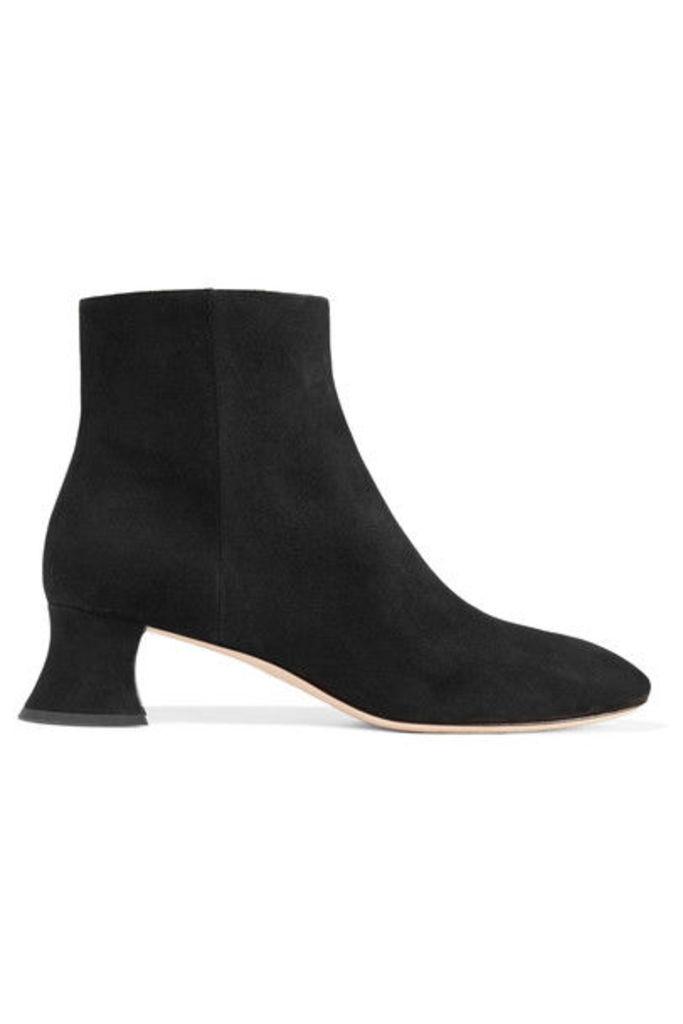 Miu Miu - Suede Ankle Boots - Black