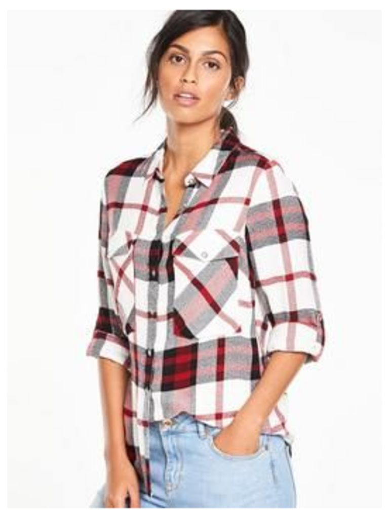 V By Very Long Sleeve Check Shirt