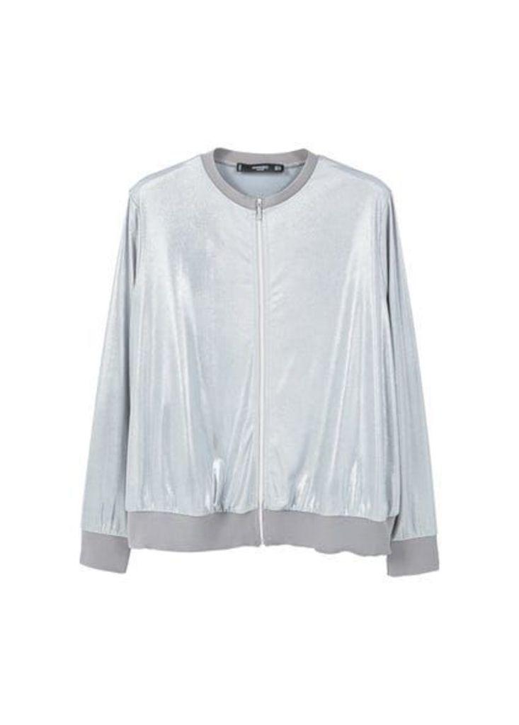 Zip textured jacket