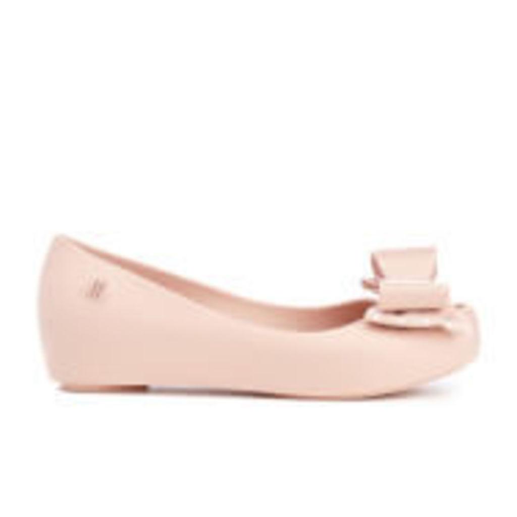 Mini Melissa Kid's Minnie Mouse Ultragirl Bow Ballet Flats - Blush