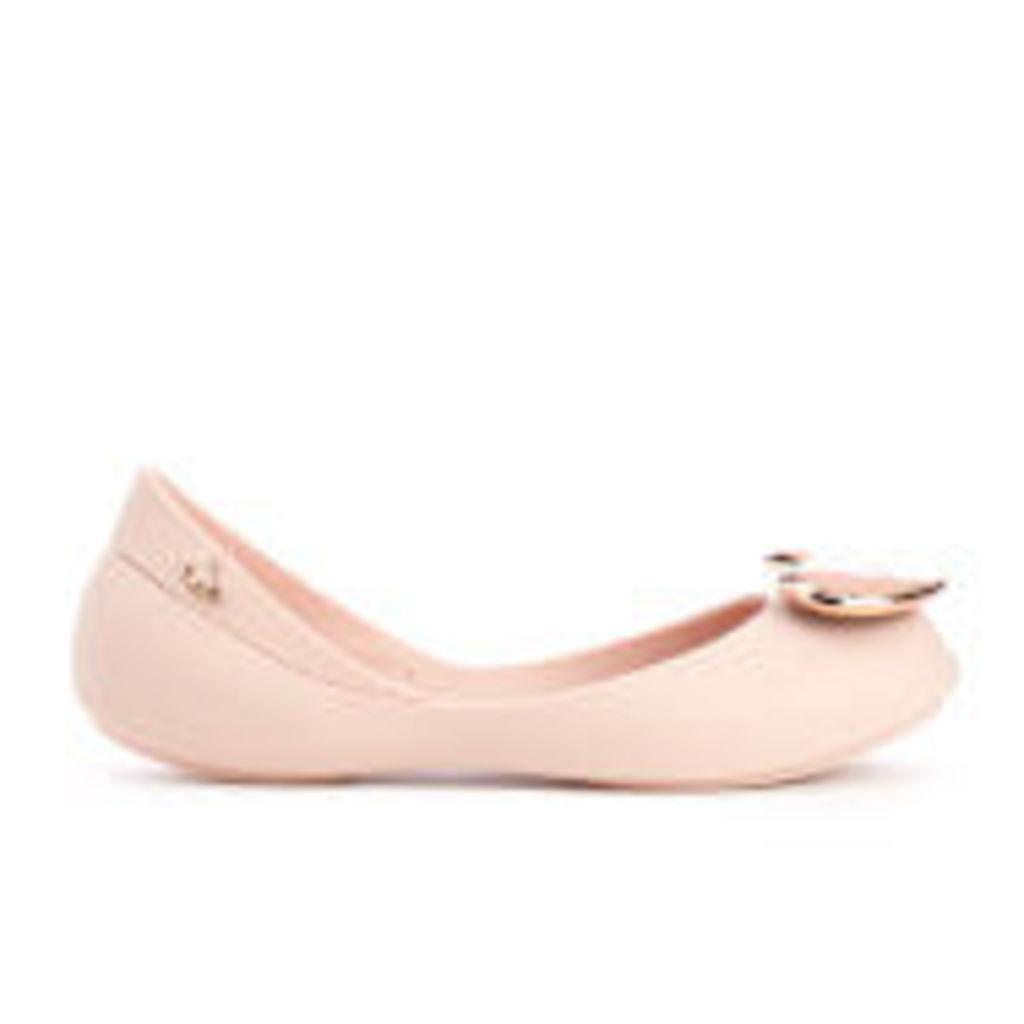 Mini Melissa Vivienne Westwood Kid's Queen Ballet Flats - Rose Heart