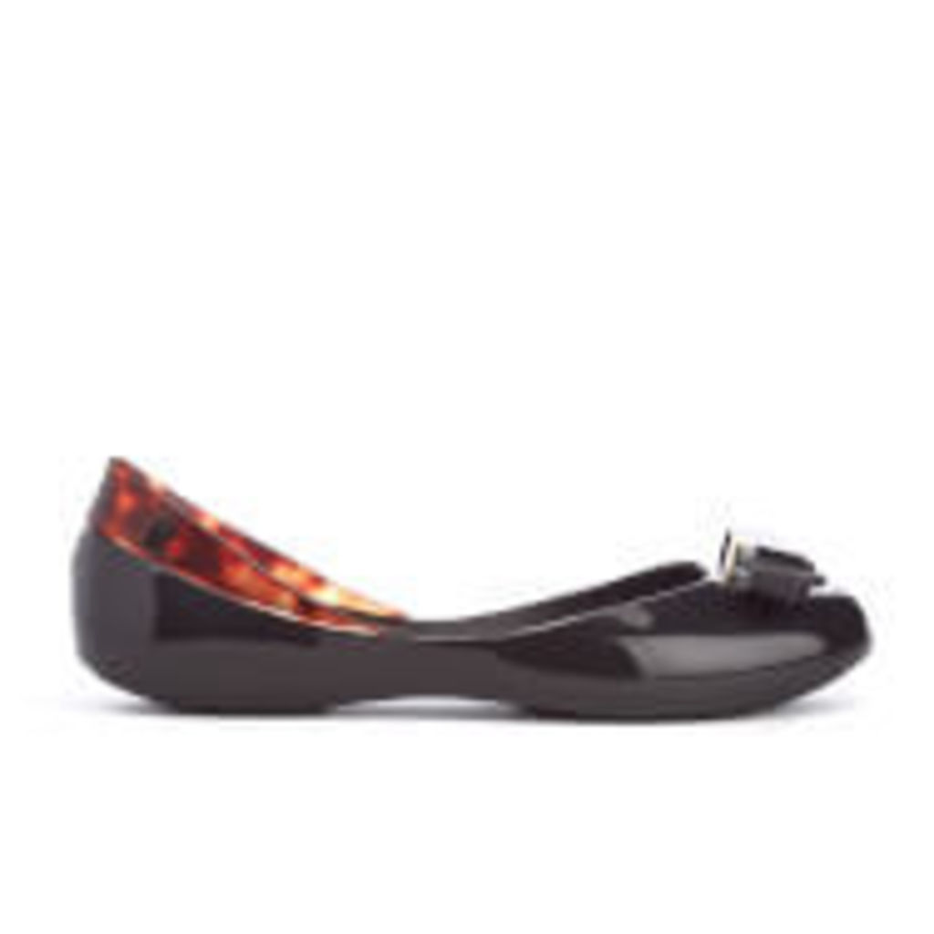 Melissa Women's Queen Ballet Flats - Black Tortoiseshell