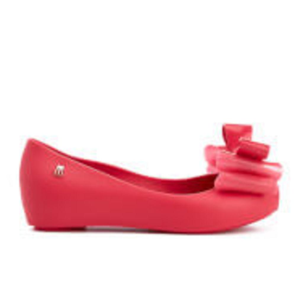 Mini Melissa Kid's Ultragirl Triple Bow Ballet Flats - Pink