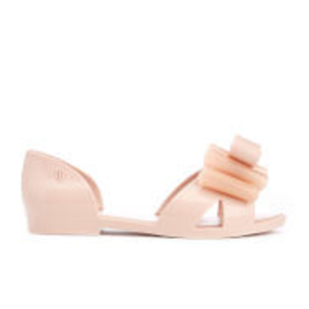 Mini Melissa Kid's Seduction Bow Flats - Blush