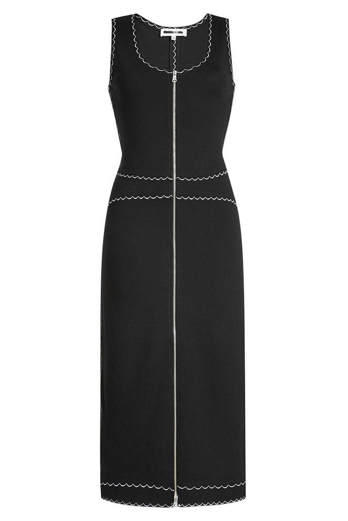 McQ Alexander McQueen Embroidered Crepe Dress