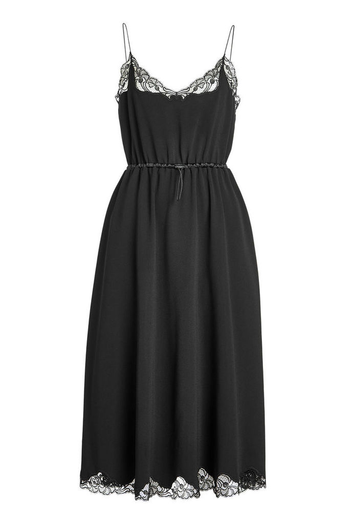 Alexander Wang Crepe Dress with Lace Detail