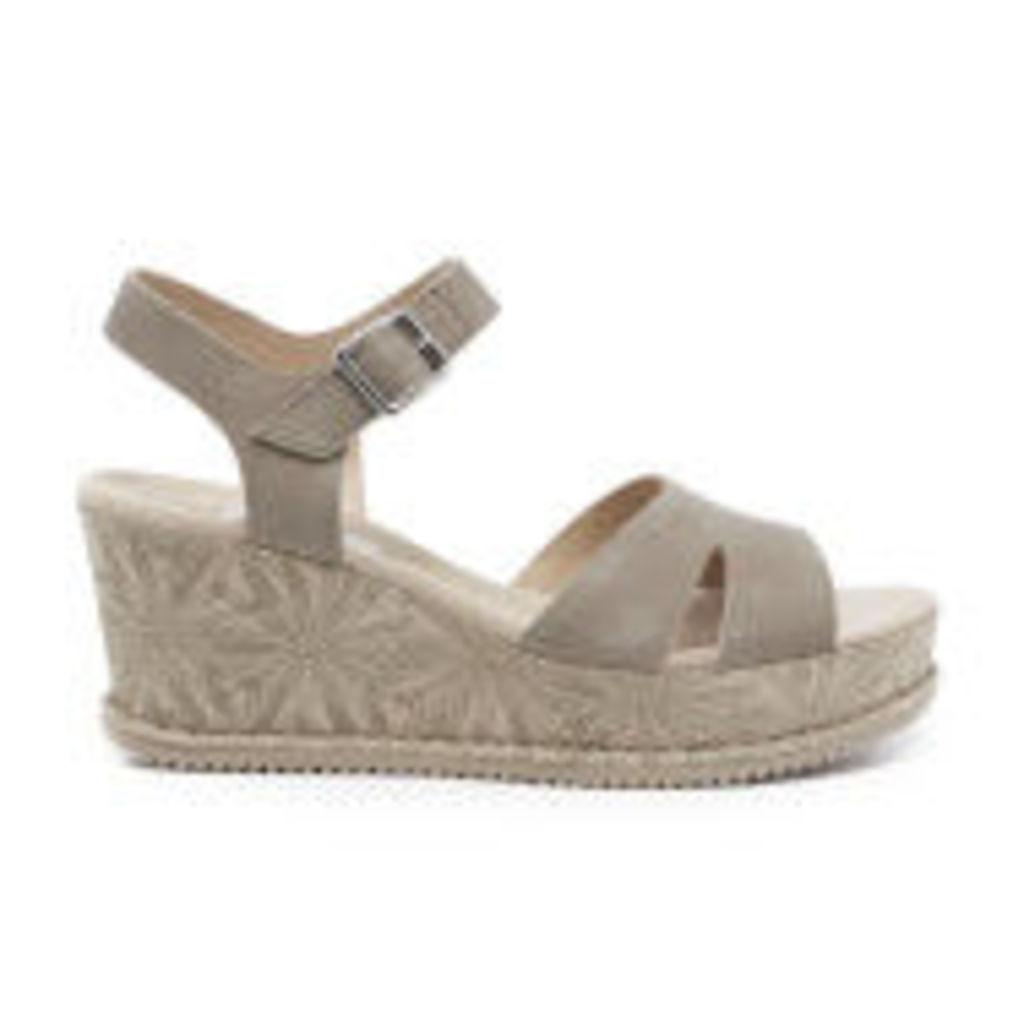 Clarks Women's Akilah Eden Leather Wedged Sandals - Sage