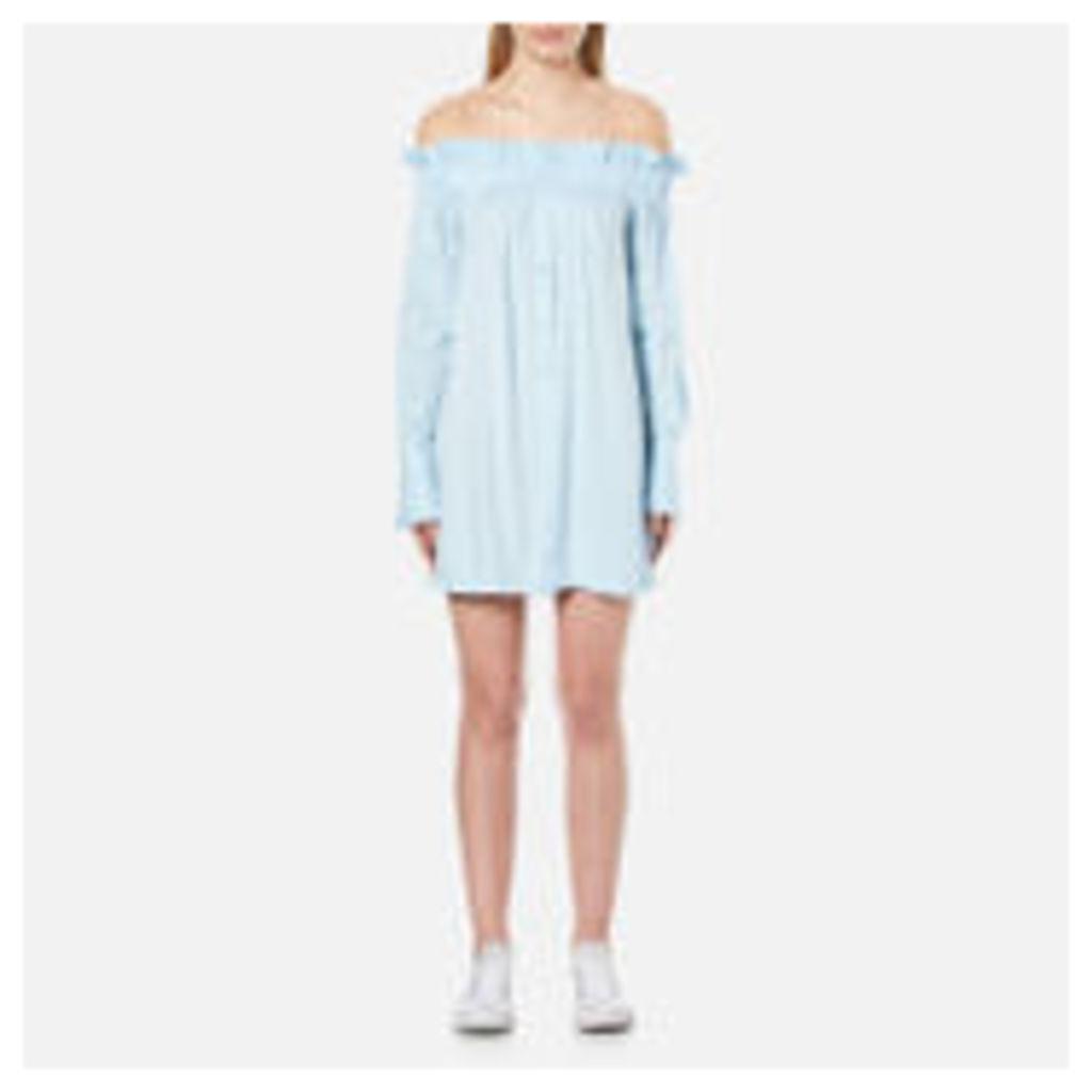 MINKPINK Women's Business Class Off Shoulder Dress - Light Blue