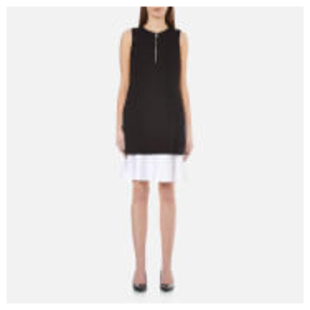 Karl Lagerfeld Women's Matt and Shine Layer Dress - Black