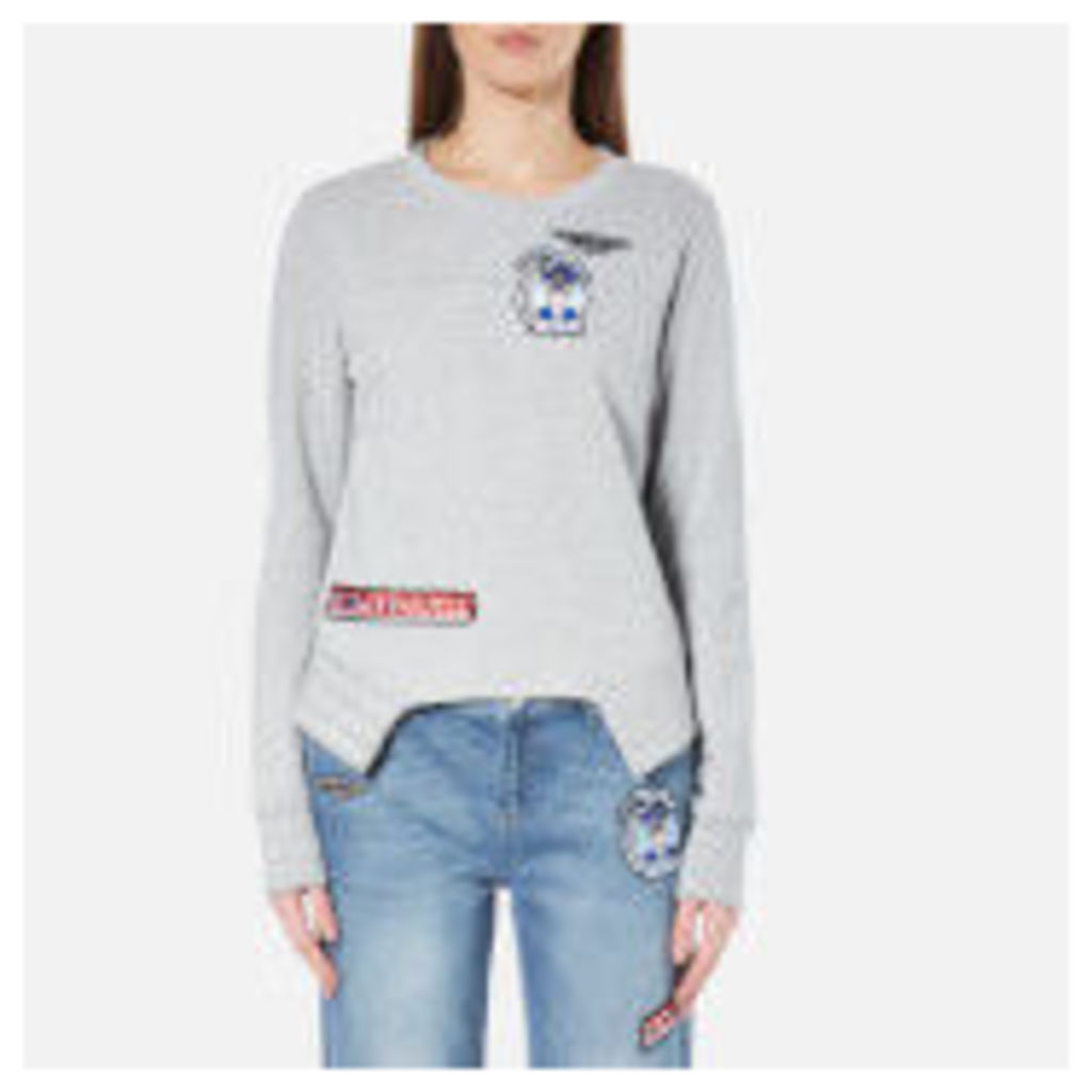 Karl Lagerfeld Women's Karl Jet Patches Sweatshirt - Grey