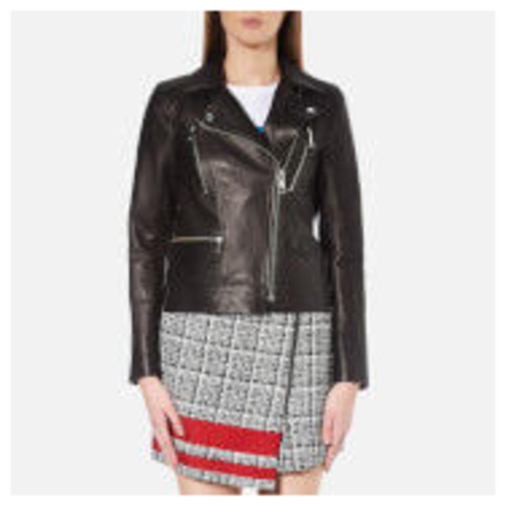 Karl Lagerfeld Women's Ikonik Odina Biker Jacket - Black
