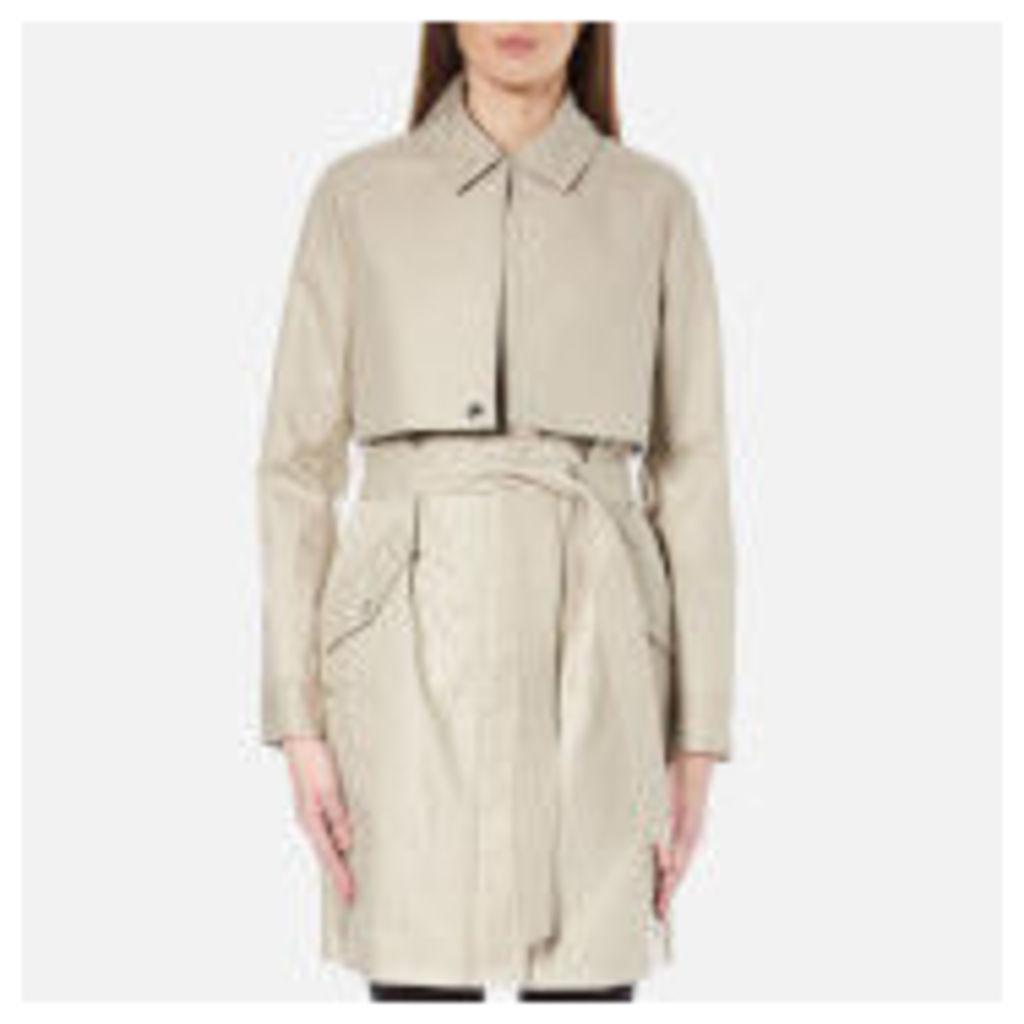 Karl Lagerfeld Women's Ikonik Belted Trench Coat - Cream
