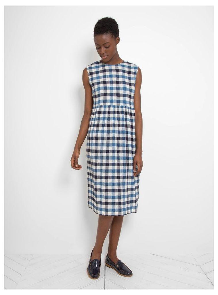 Lux Lisbon Dress Blue Check