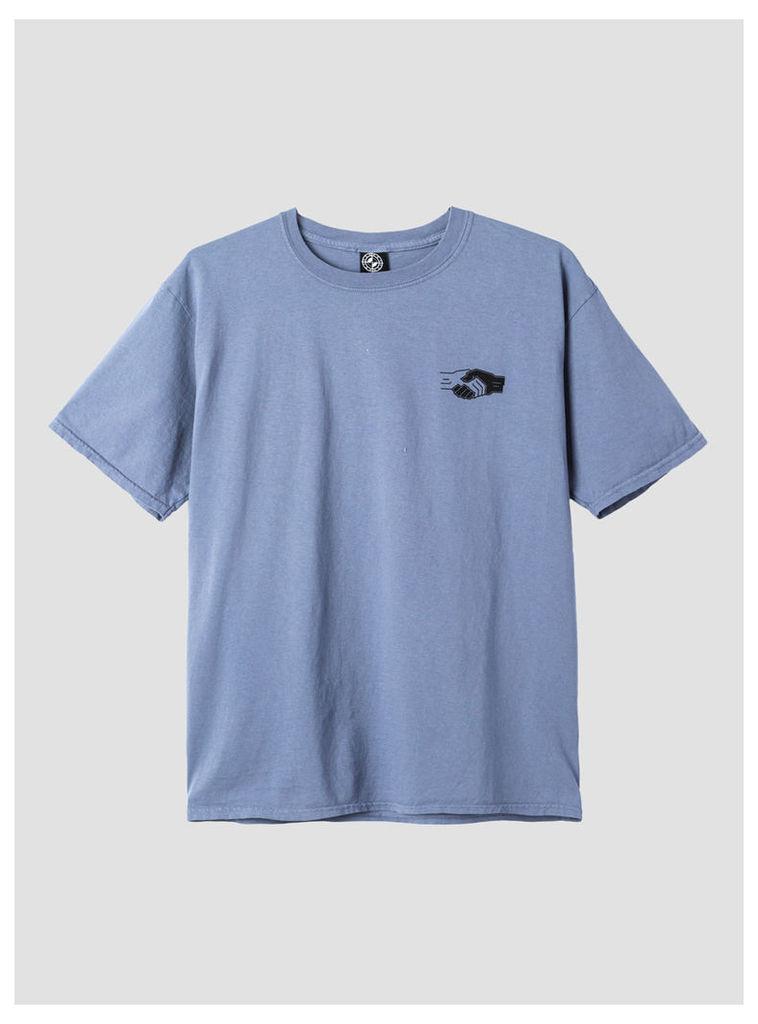 Handshake T-Shirt Stone Blue