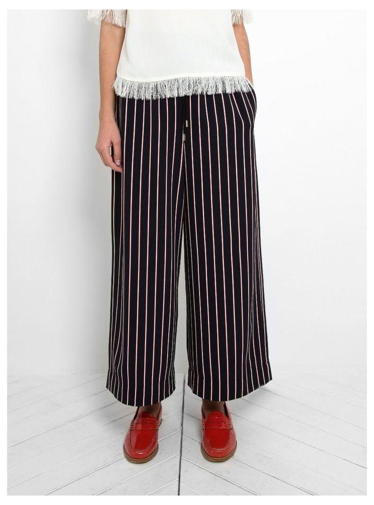 Mali Stripe Culottes Navy Stripe
