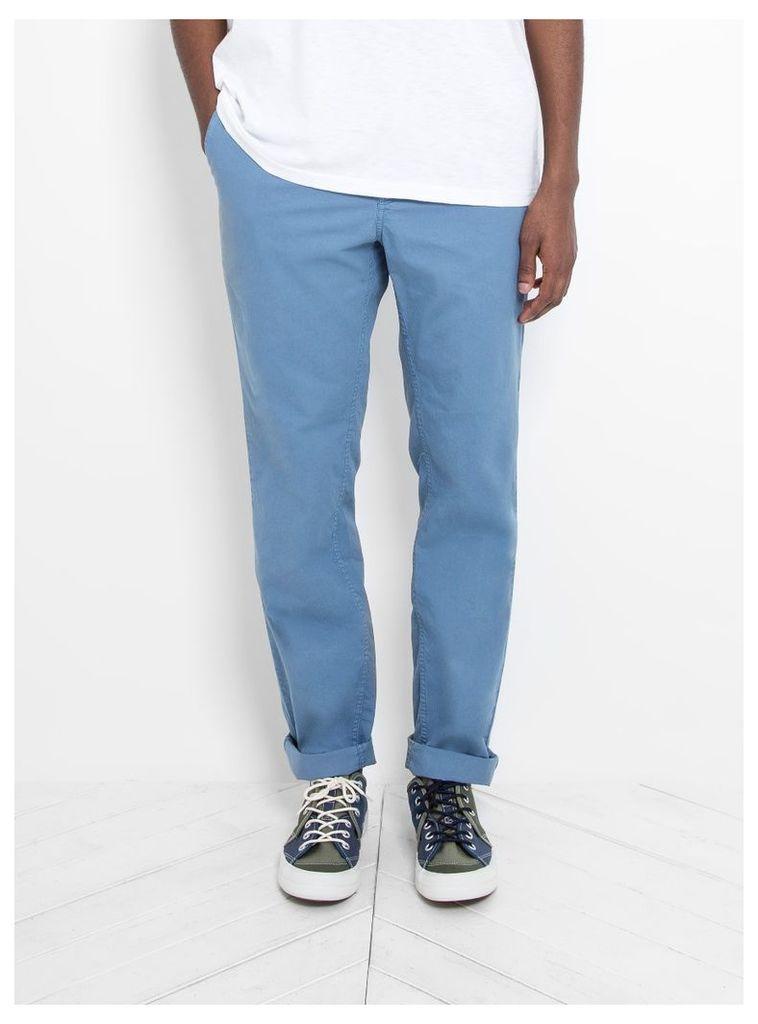 Aros Light Twill Trousers Marginal Blue