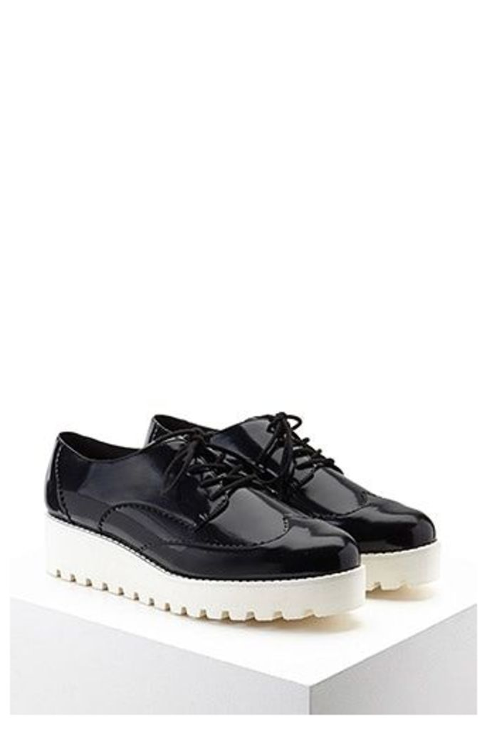 Faux Leather Oxford Creepers