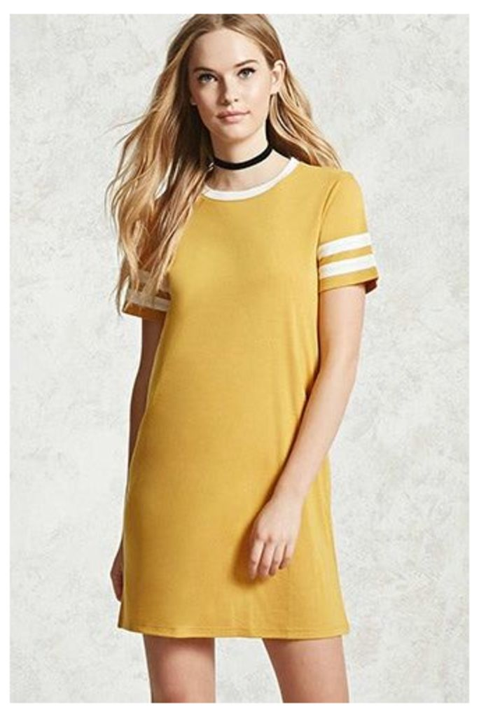 Varsity Stripe T-Shirt Dress