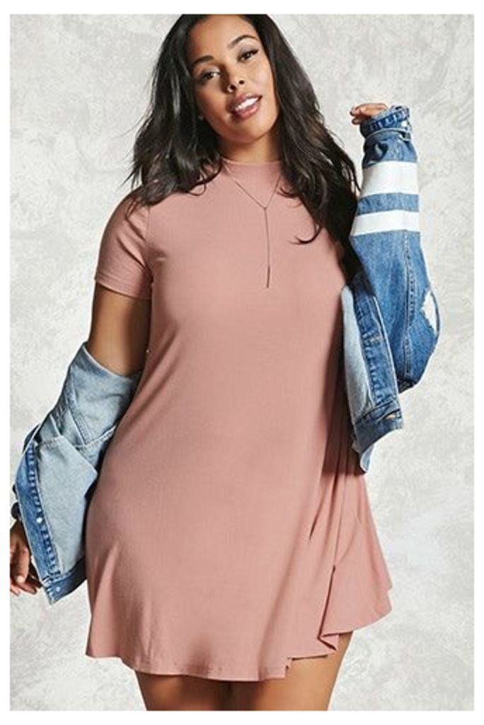 Plus Size Mock Neck Dress
