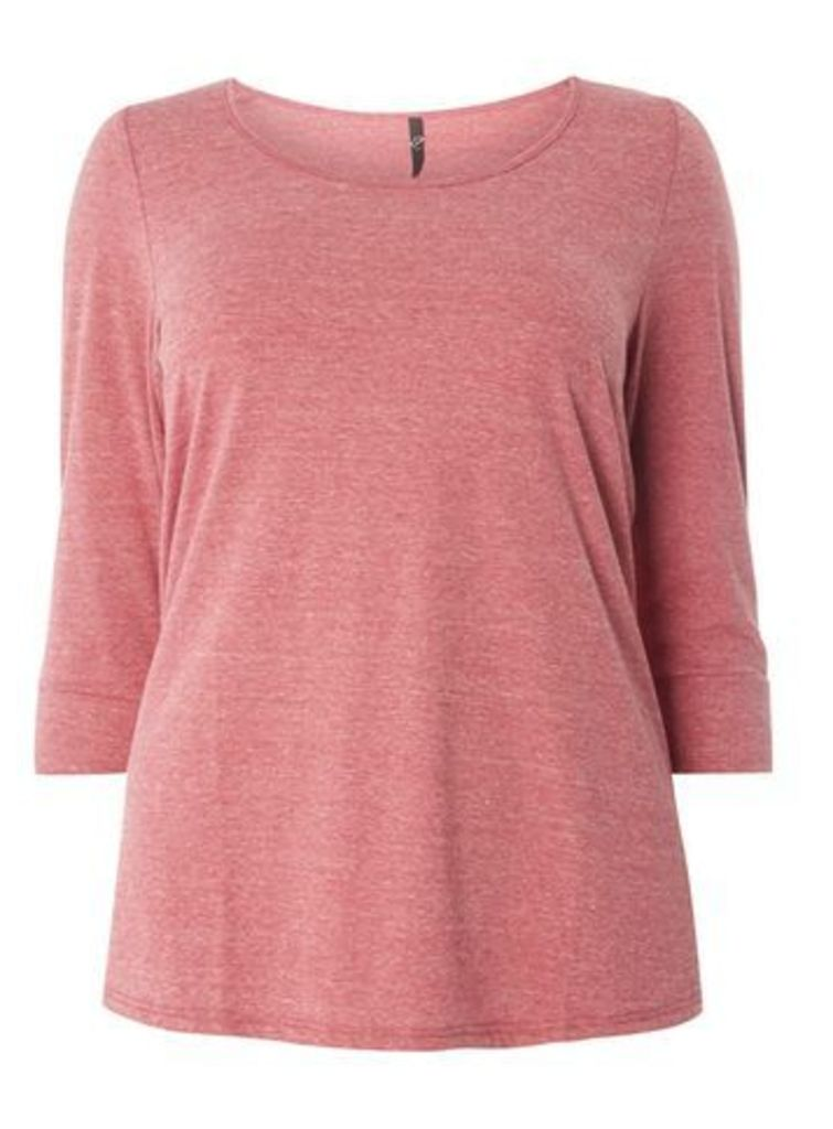 Berry Red 3/4 Sleeve Top, Red