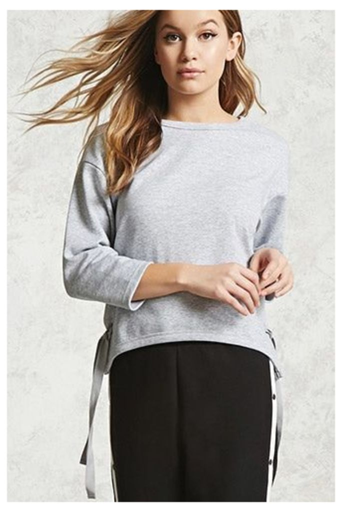 Boxy Lace-Up Hem Top