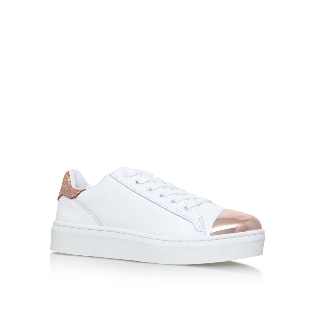KG Loopy flat lace up sneakers, White