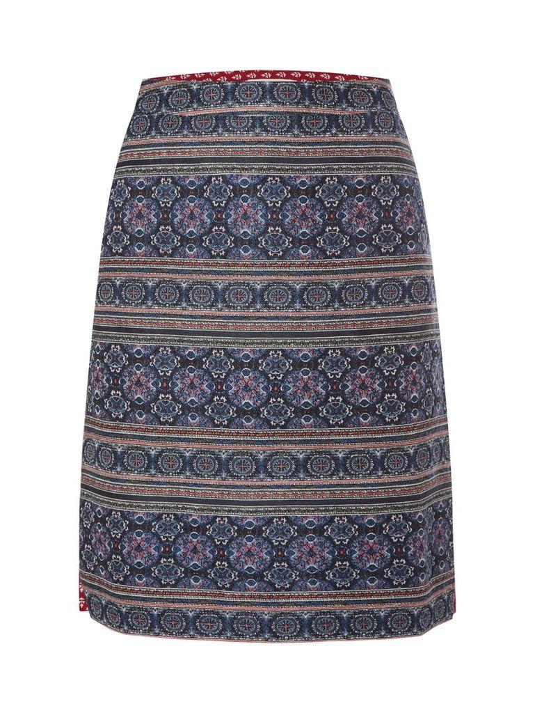 White Stuff China Bay Skirt, Blue