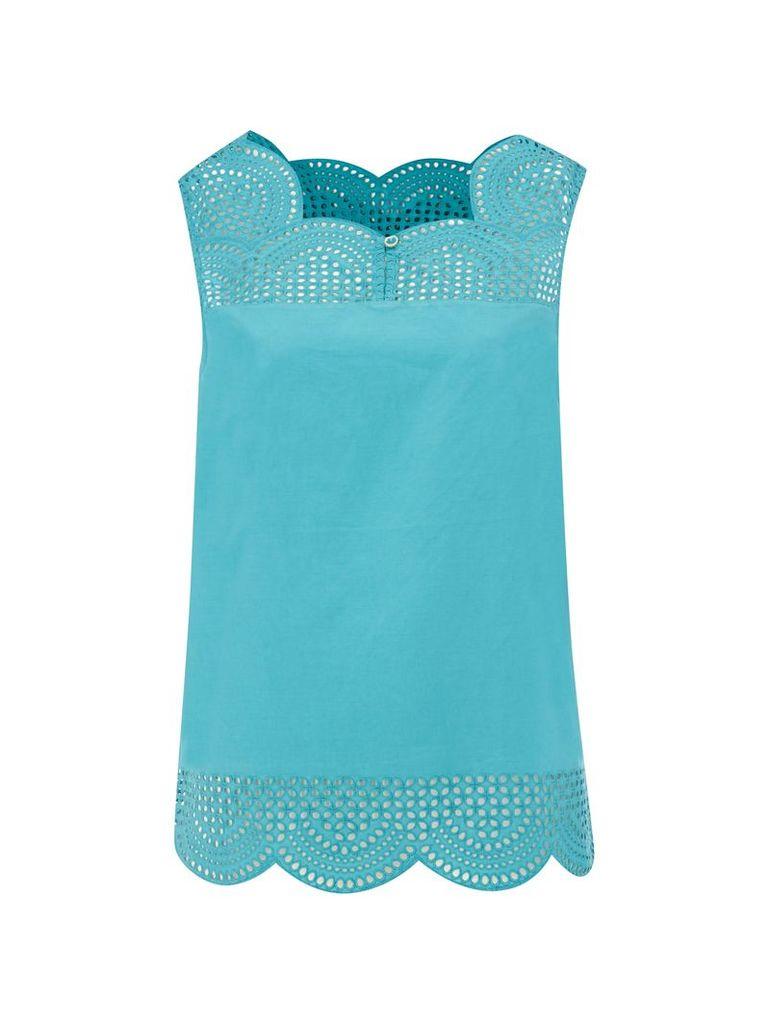 White Stuff Budding Vest, Blue
