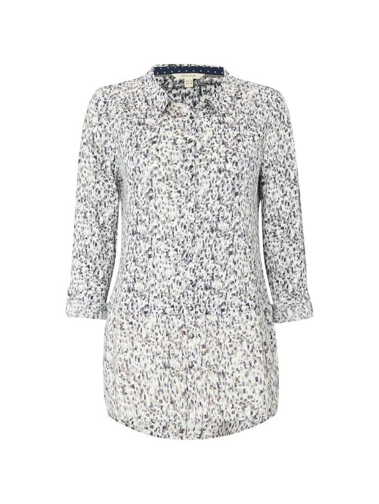 White Stuff Lucy Linen Jersey Shirt, Grey