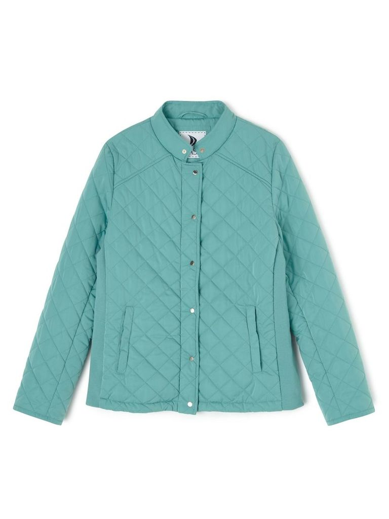Dash Short Quilted Coat, Green