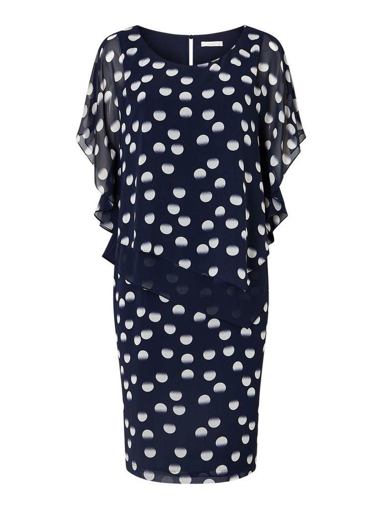 Jacques Vert New Spot Layers Dress, Multi-Coloured