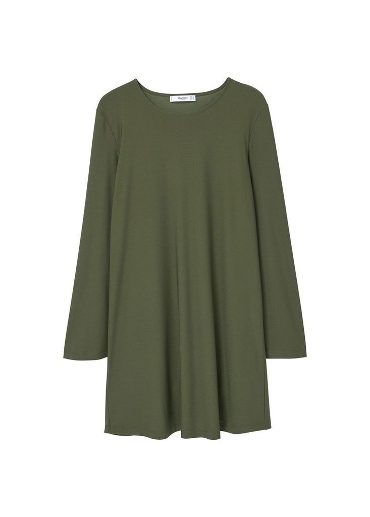 Mango Flowy Dress, Green