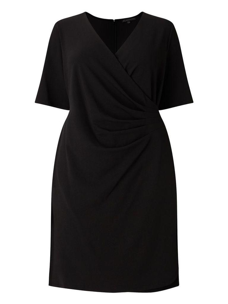 Adrianna Papell Wrap Dress, Black
