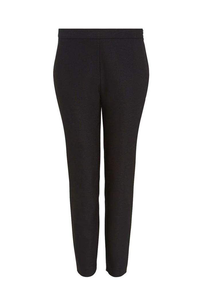 Hallhuber Cropped skinny trousers, Black