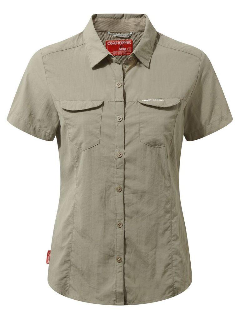 Craghoppers NosiLife Adventure Short Sleeved Shirt, Mushroom