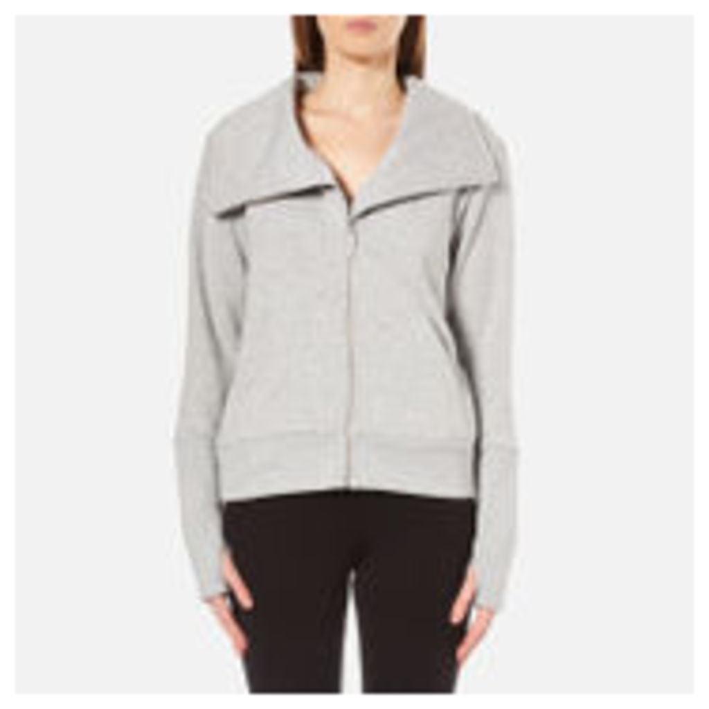 UGG Women's Pauline Double Knit Fleece Cowl Neck Zip Through Jacket - Seal Heather - L