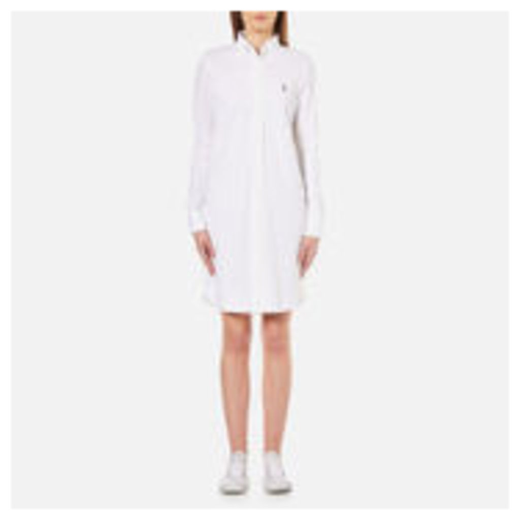 Polo Ralph Lauren Women's Oxford Shirt Dress - White - L