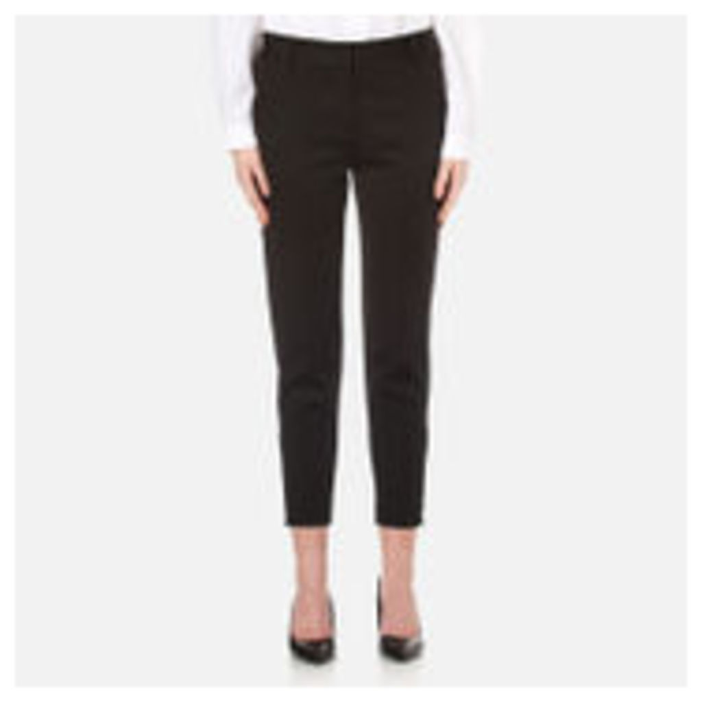 DKNY Women's Tailored Relaxed Pants - Black - UK 10/US 6