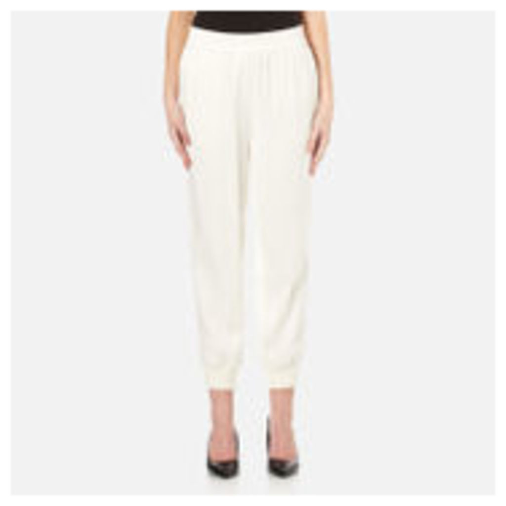 DKNY Women's Joggers with Ribbed Cuffs - Gesso - L
