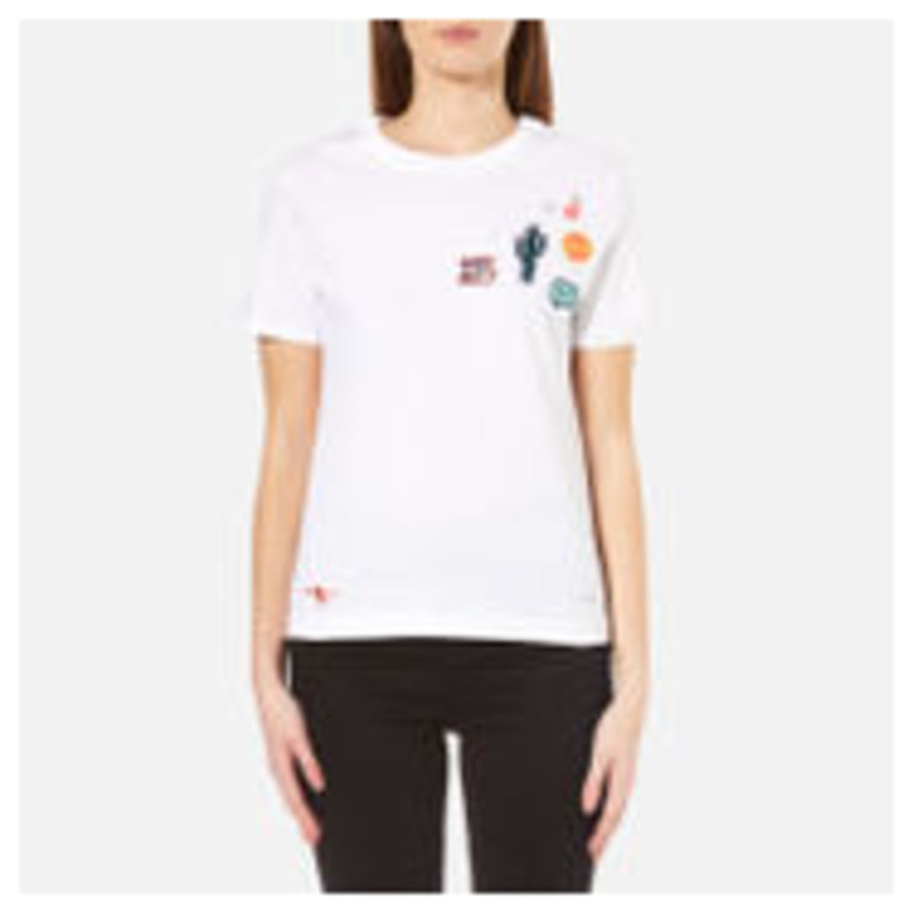PS by Paul Smith Women's Why Not Patches Top - White - M