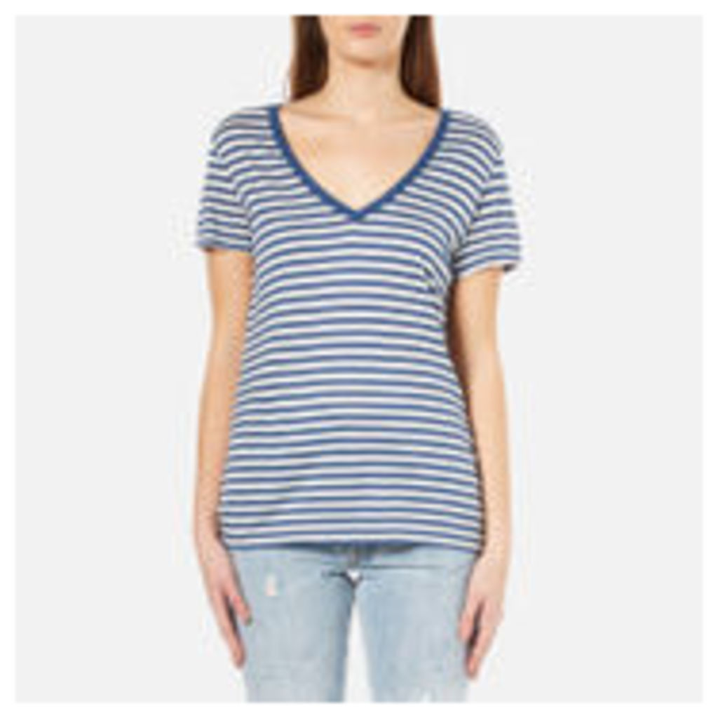 Levi's Women's Perfect V-Neck T-Shirt - Willow Dutch Blue - L