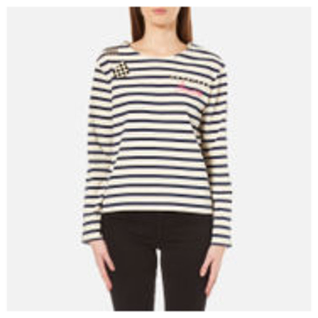 Marc Jacobs Women's Boat Neck Long Sleeve Top - Ecru - M