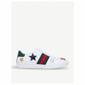 Gucci New Ace star-detail leather trainers, Women's, Size: EUR 40 / 7 UK WOMEN, White/oth