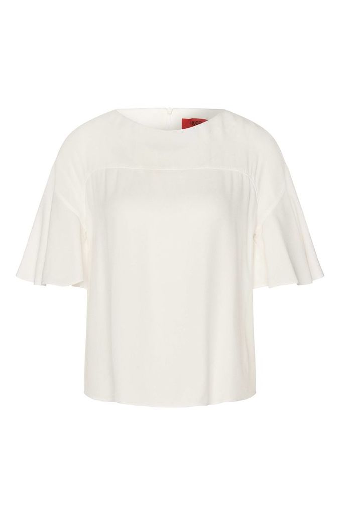 Top with short trumpet sleeves: `Cotara`