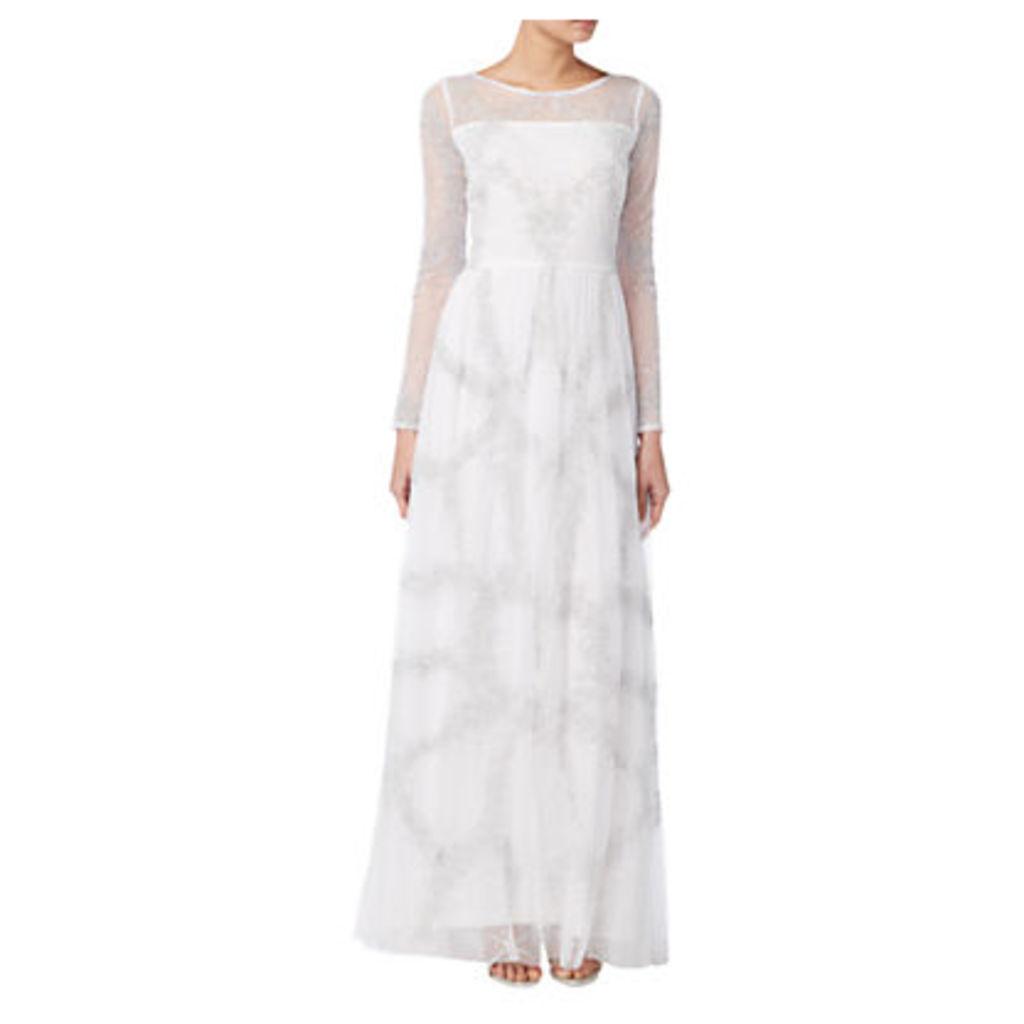 Raishma Full Sleeve Embellished Bridal Gown, Ivory