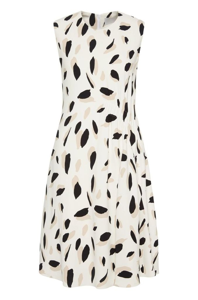 Patterned dress in stretch viscose: `Dikita1`