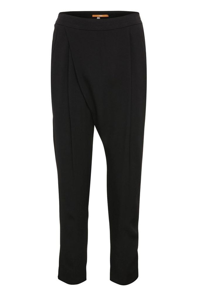 Regular-fit 7/8 suit trousers in material blend with viscose: `Samilli`