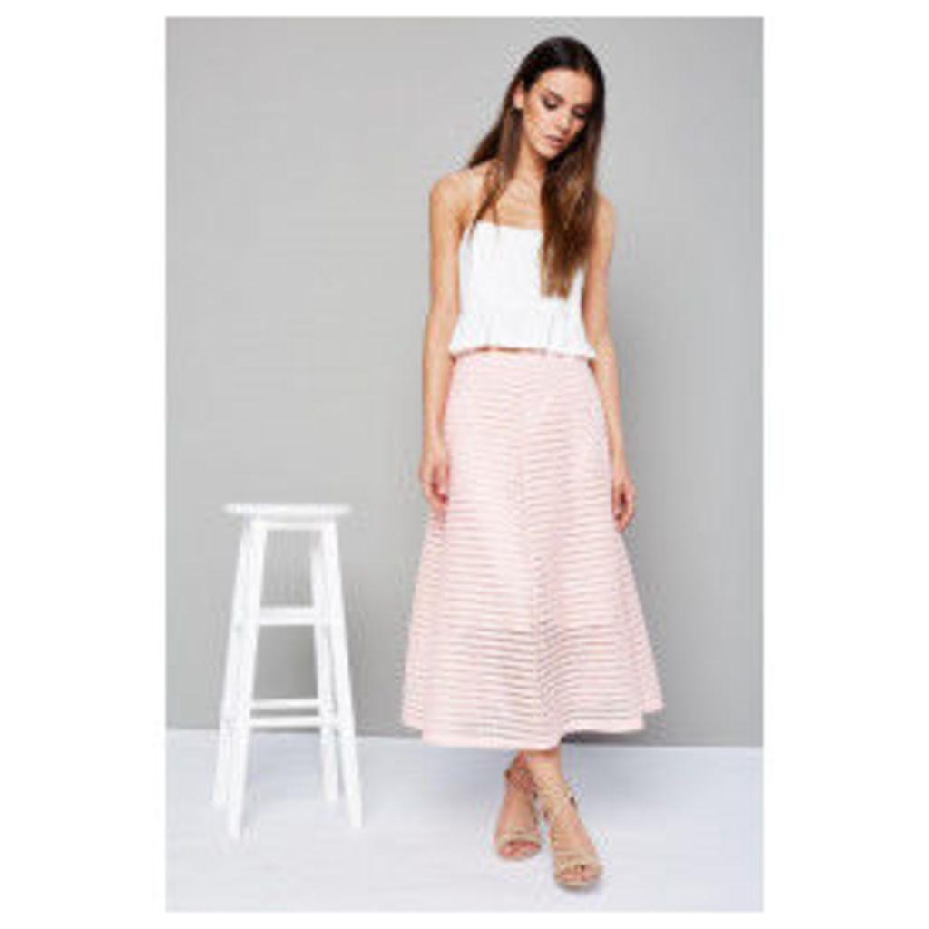 Style London Lazer Cut Skirt - Pink