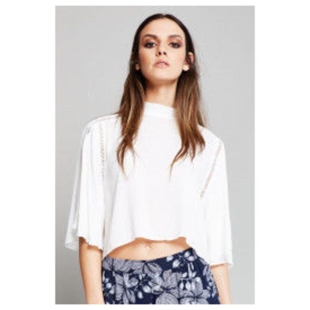 Style London High Neck Crop Top - White