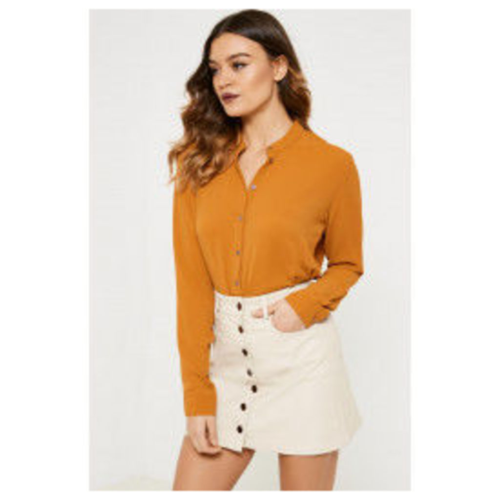 Jacqueline de Yong Wave Long Sleeve Shirt - Yellow